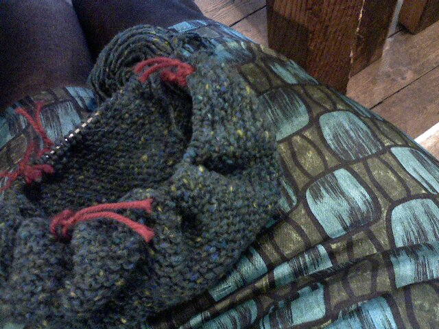 Matching garter stitch